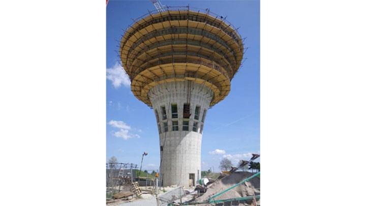 Construction d'un réservoir sur tour à Osny (95)