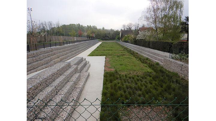 Maîtrise d'oeuvre du bassin des jardins paysagers à Villeneuve-le-Roi